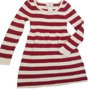 Heirlooms red/white striped sweater dress